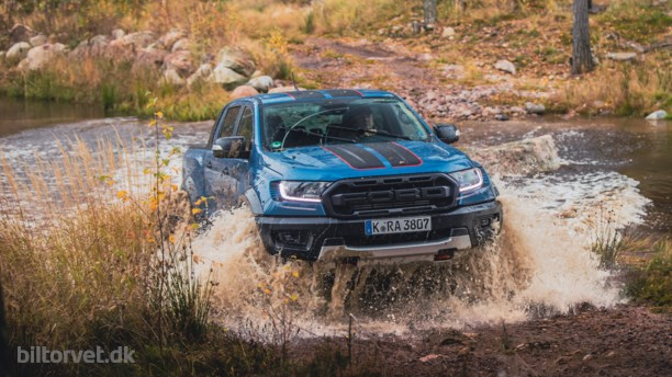 Ford Ranger blå front