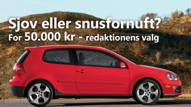 Brugte biler til 50.000 kroner - 5 bud fra redaktionen