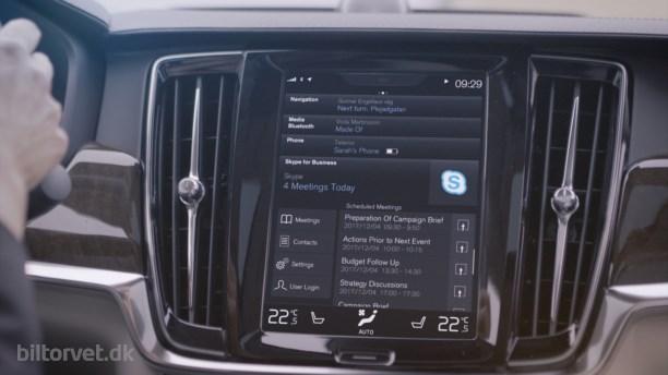 Volvo klar med Skype Business i deres 90-serie